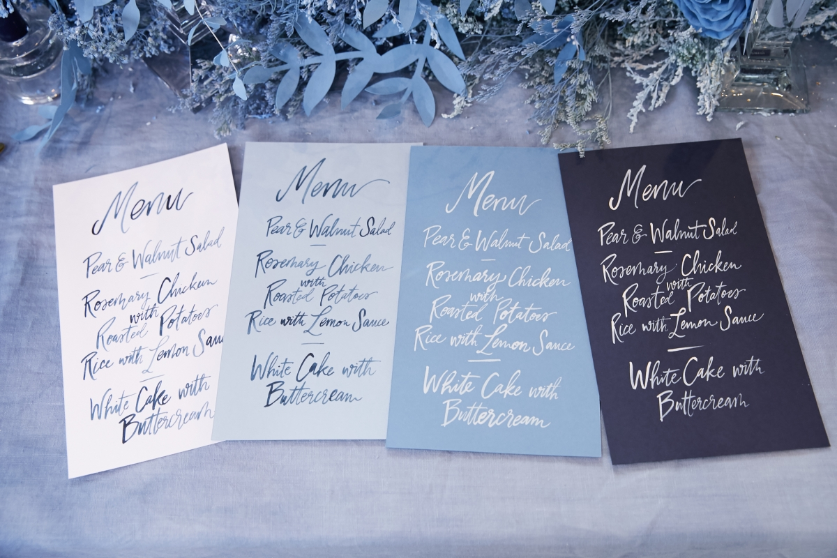 Ombre Blue Chicago Loft Wedding Inspiration 46