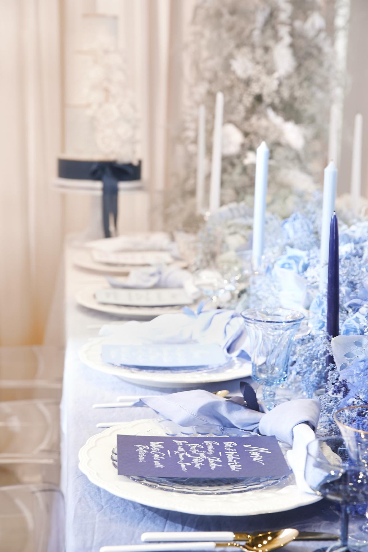 Ombre Blue Chicago Loft Wedding Inspiration 8