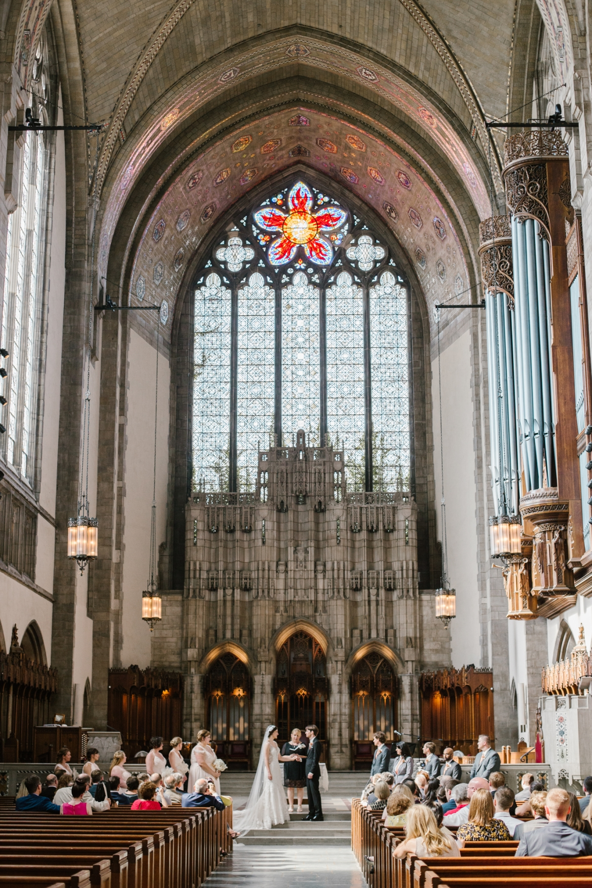 Rockefeller Chapel Wedding University of Chicago Vintage Chicago Wedding 19