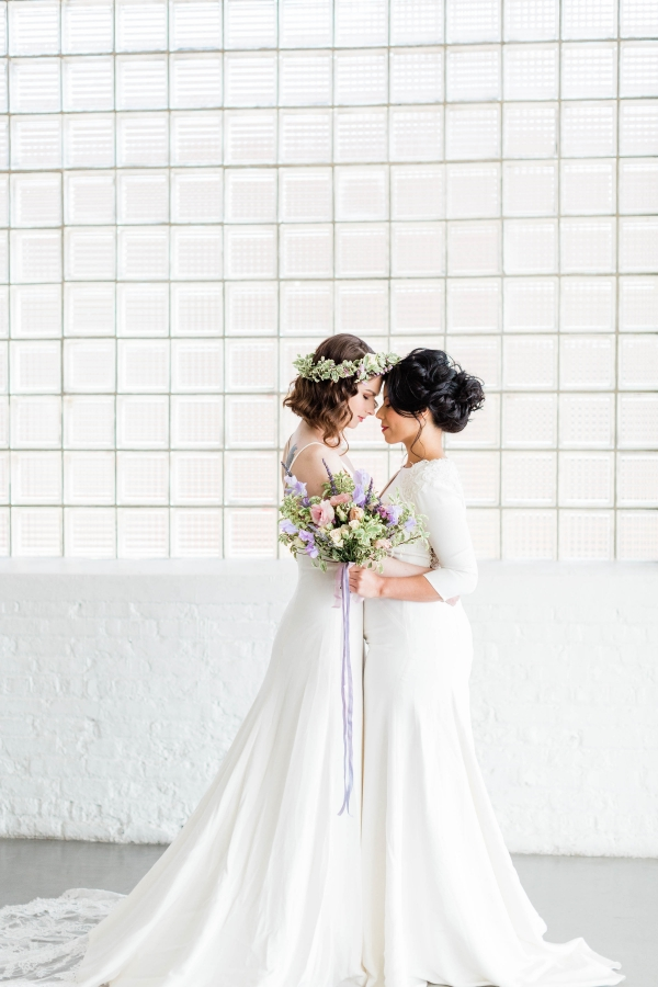 Watercolor Wedding Inspo Chicago Room 1520 Two Brides (40)