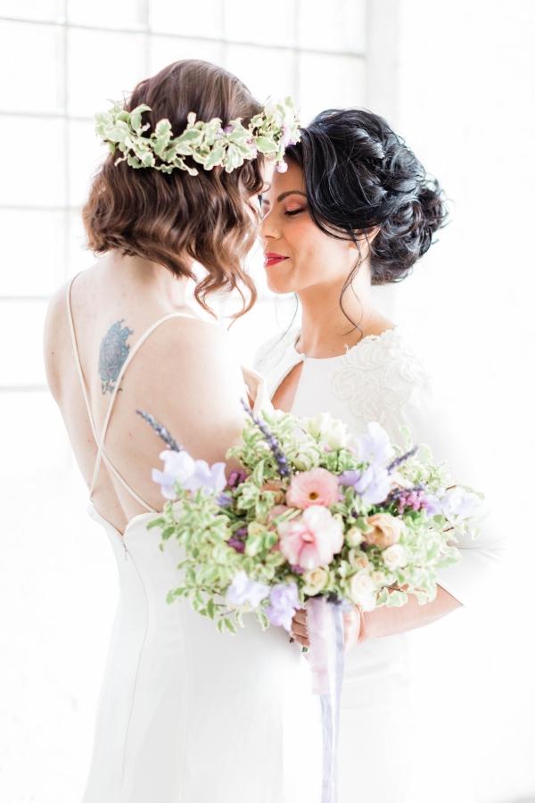 Watercolor Wedding Inspo Chicago Room 1520 Two Brides (46)