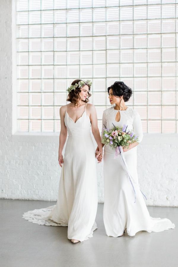 Watercolor Wedding Inspo Chicago Room 1520 Two Brides (49)