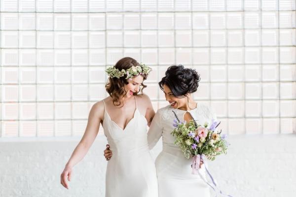 Watercolor Wedding Inspo Chicago Room 1520 Two Brides (50)