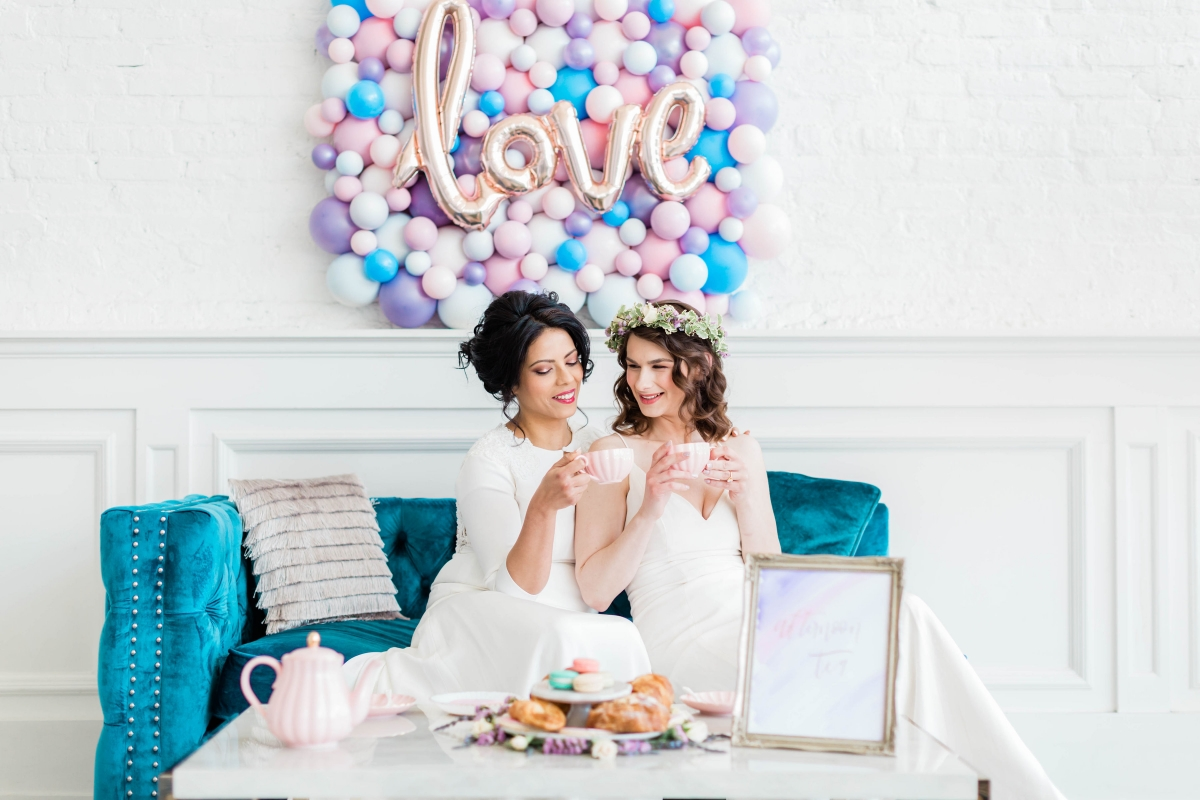 Watercolor Wedding Inspo Chicago Room 1520 Two Brides (56)
