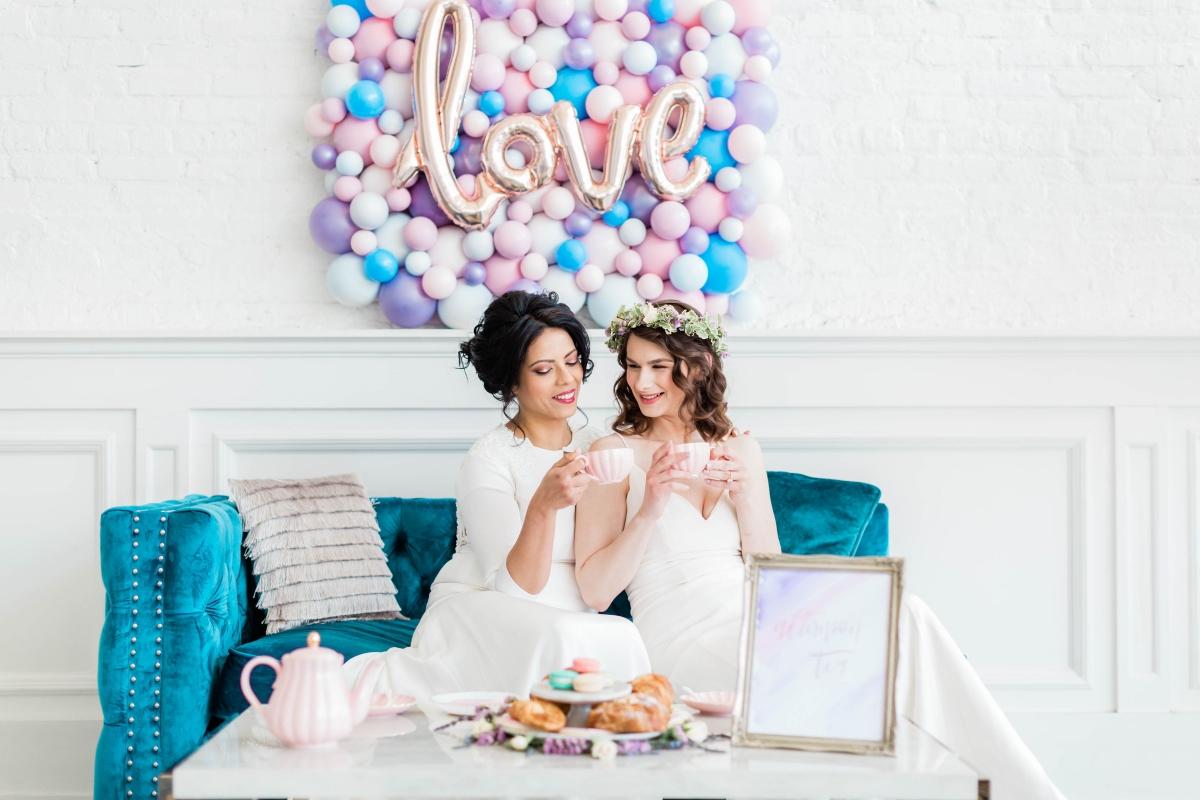 Watercolor Wedding Inspo Chicago Room 1520 Two Brides (56)
