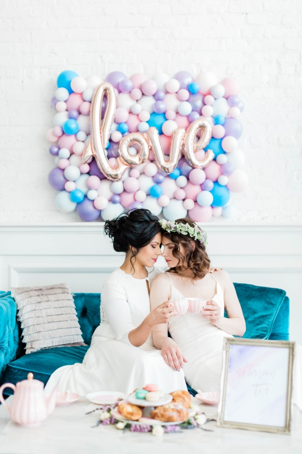 Watercolor Wedding Inspo Chicago Room 1520 Two Brides (57)