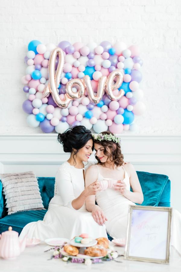 Watercolor Wedding Inspo Chicago Room 1520 Two Brides (58)