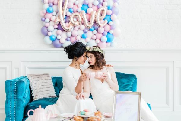 Watercolor Wedding Inspo Chicago Room 1520 Two Brides (60)
