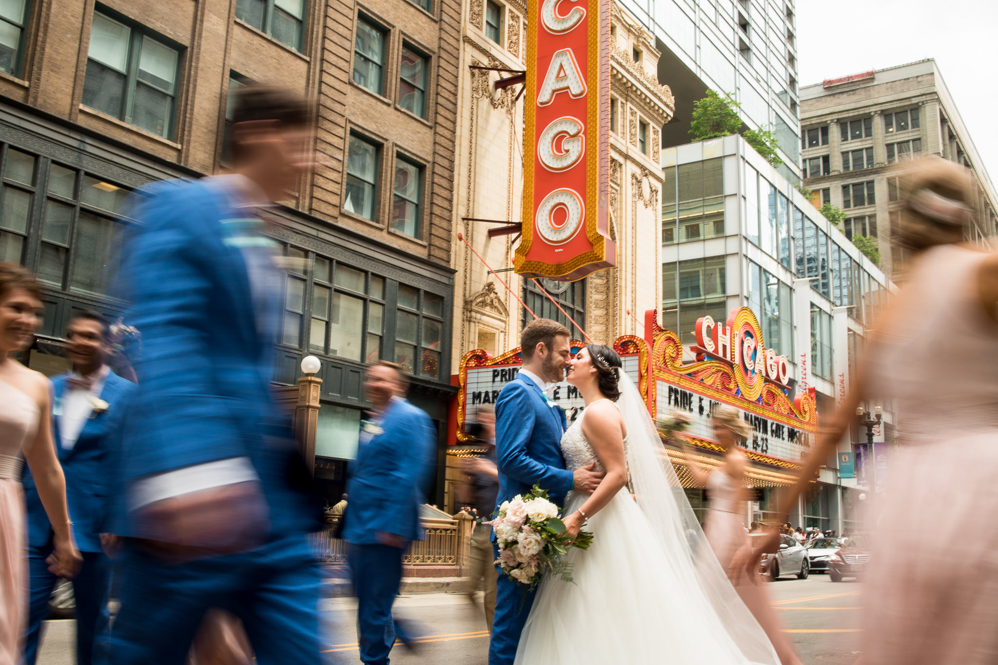 Newlyweds in Chicago