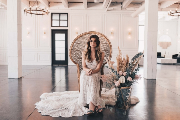Chicago Boho Bridal Shoot Blush and Borrowed (10)
