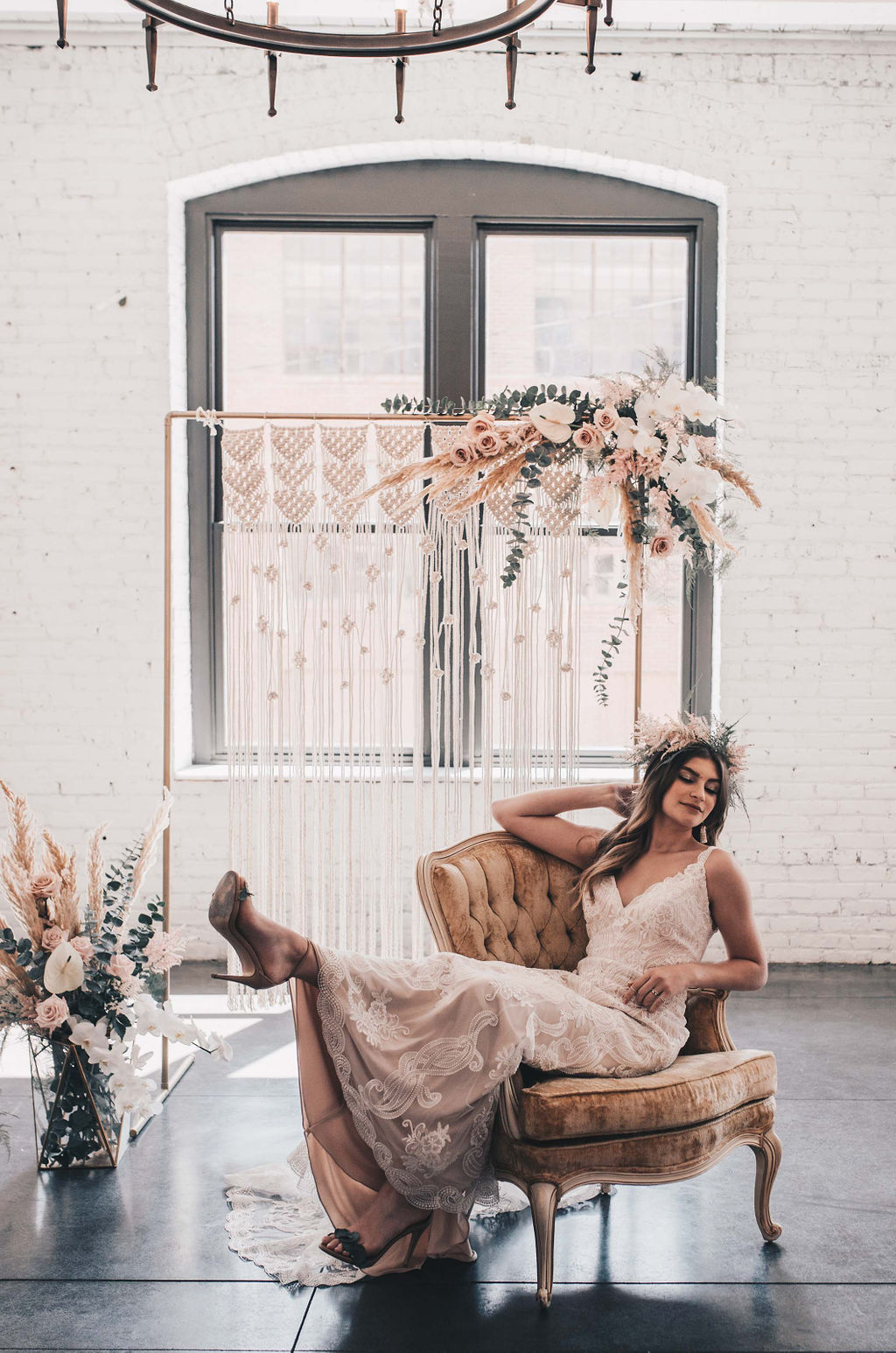 Chicago Boho Bridal Shoot Blush and Borrowed 29