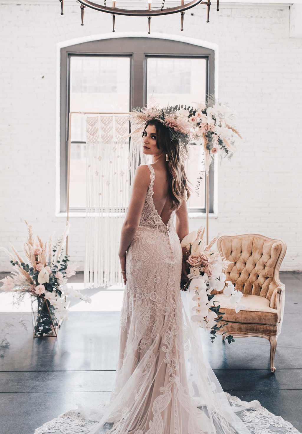 Chicago Boho Bridal Shoot Blush and Borrowed 33