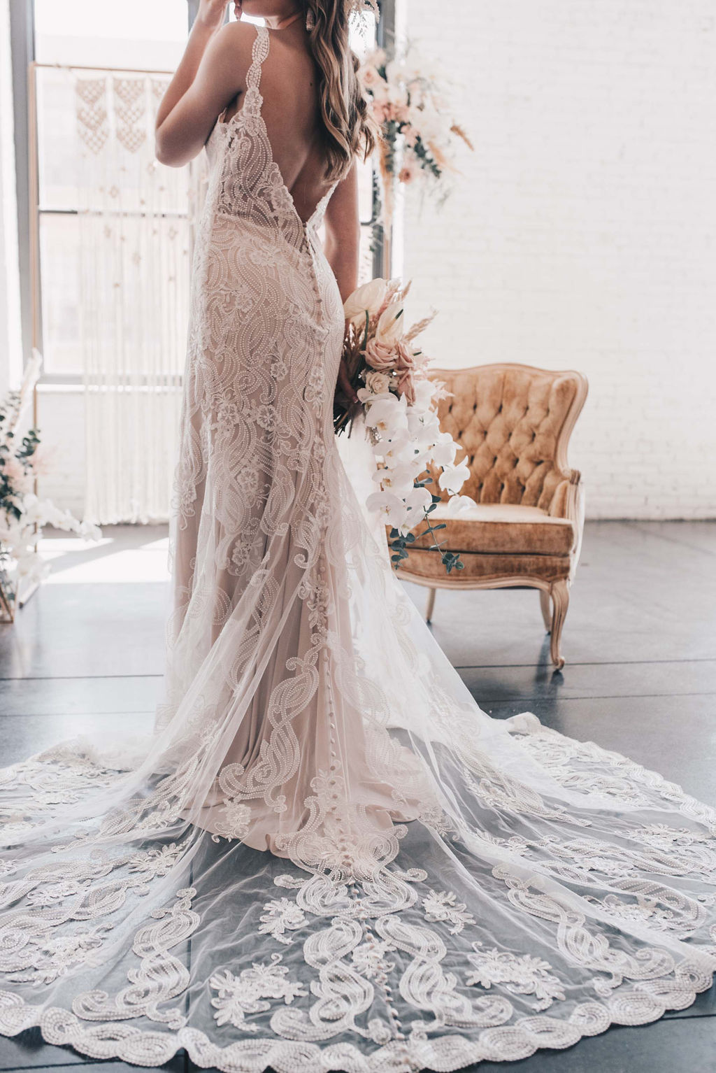 Chicago Boho Bridal Shoot Blush and Borrowed 35