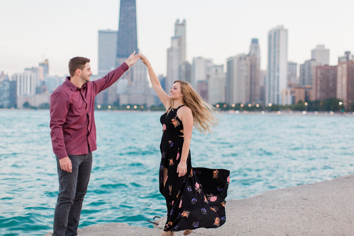 Chicago Lincoln Park Engagement Session North Ave Beach 18
