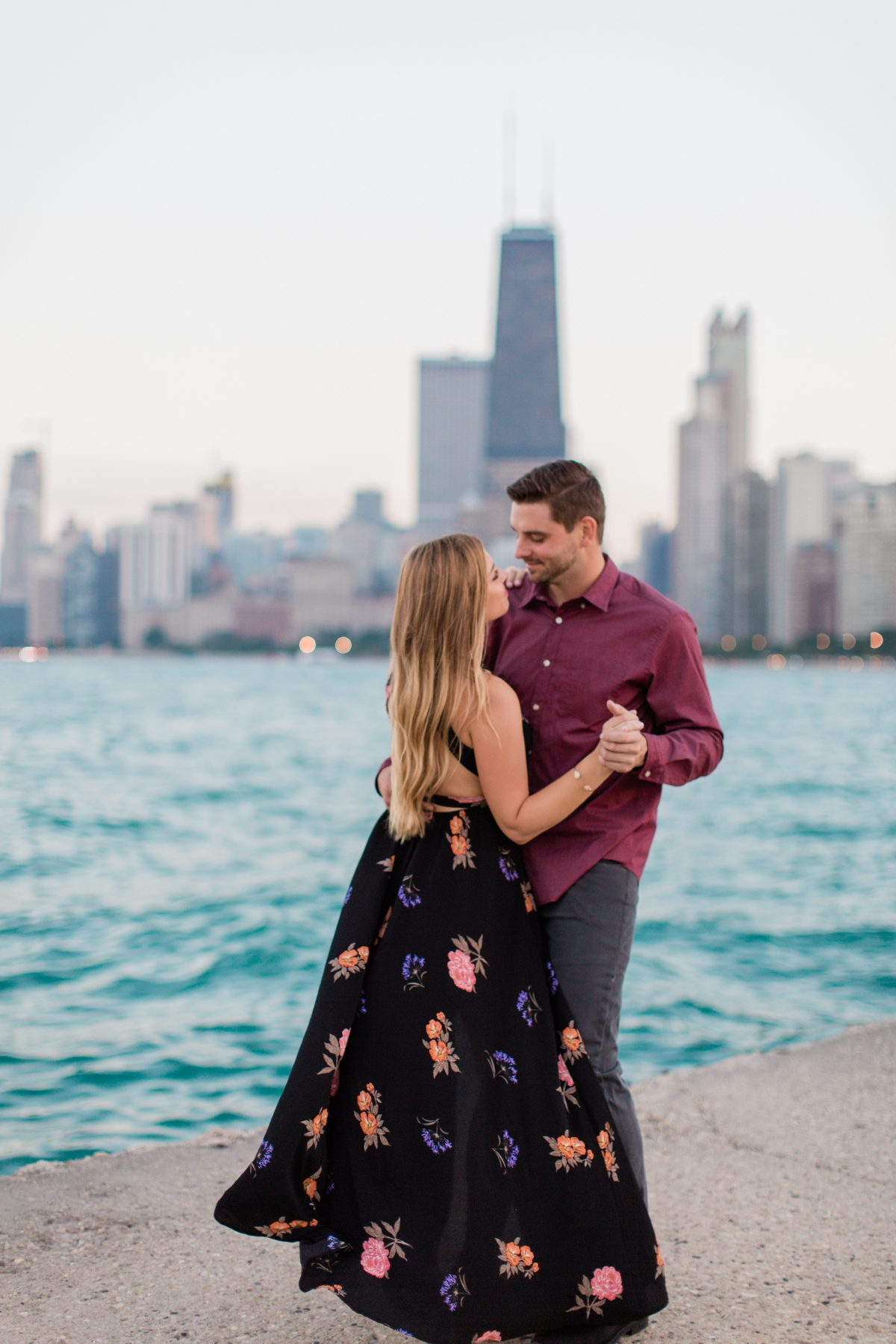 Chicago Lincoln Park Engagement Session North Ave Beach