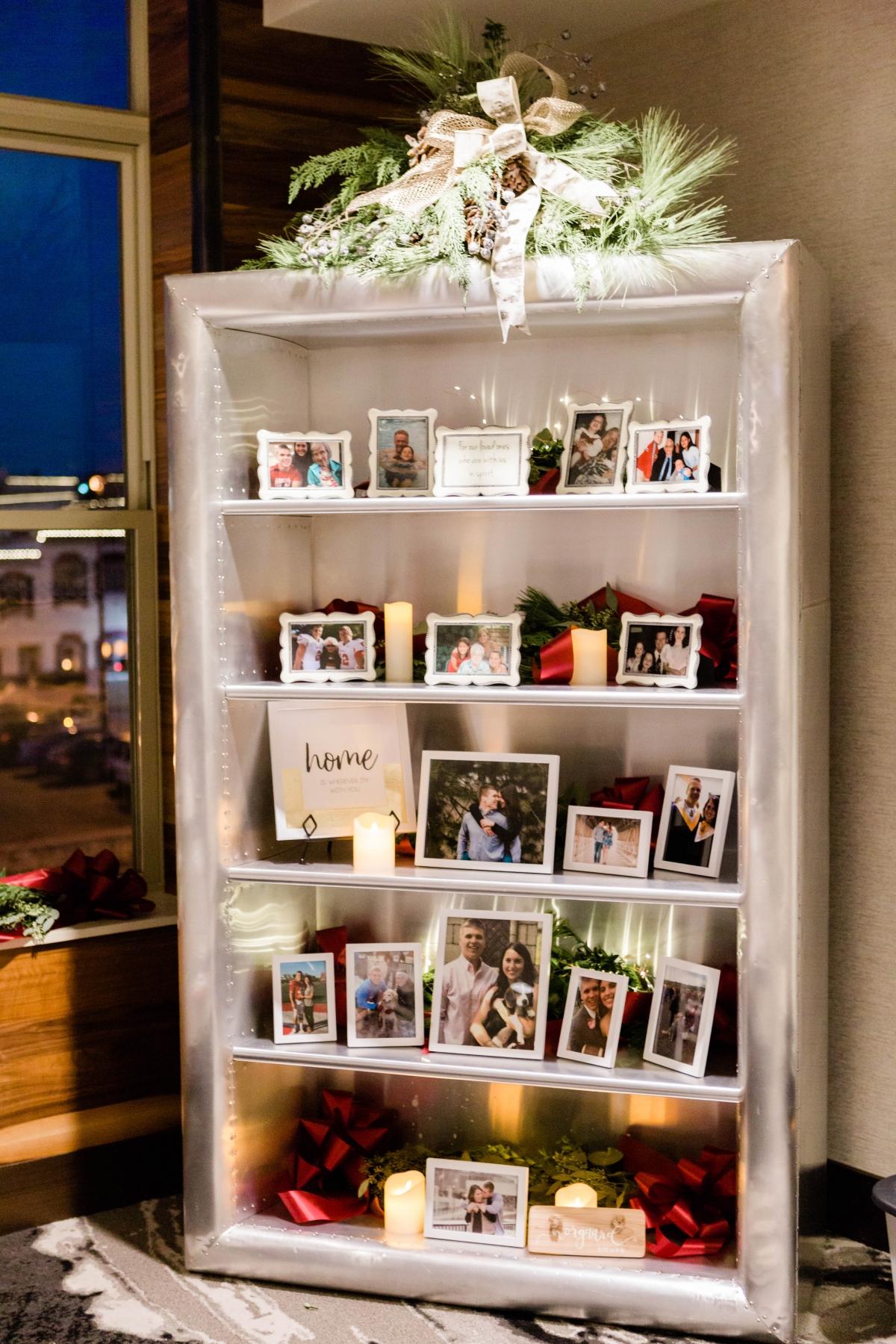 Photo Shelf Honoring Family at Wedding