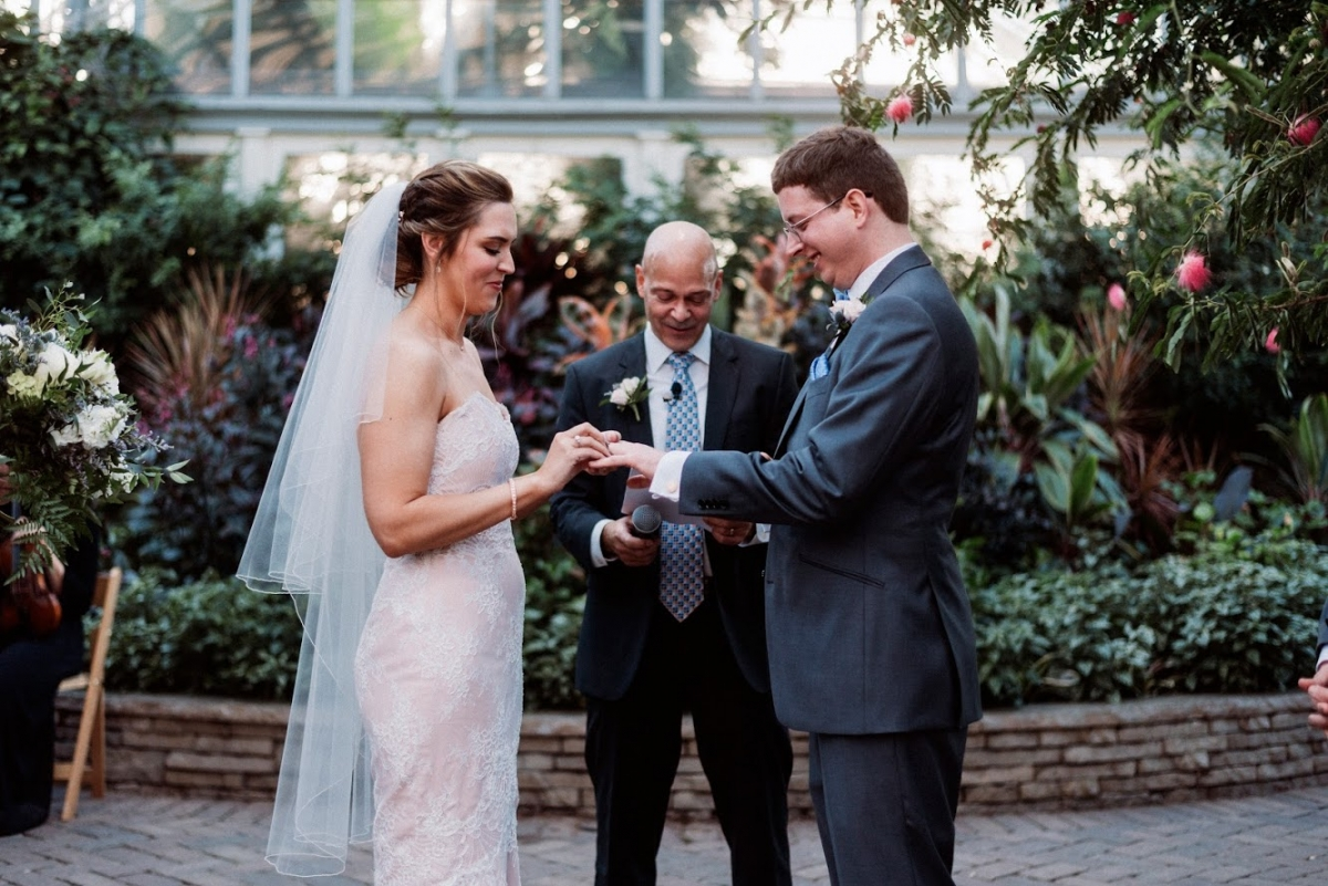 Garfield Park Conservatory Wedding 37