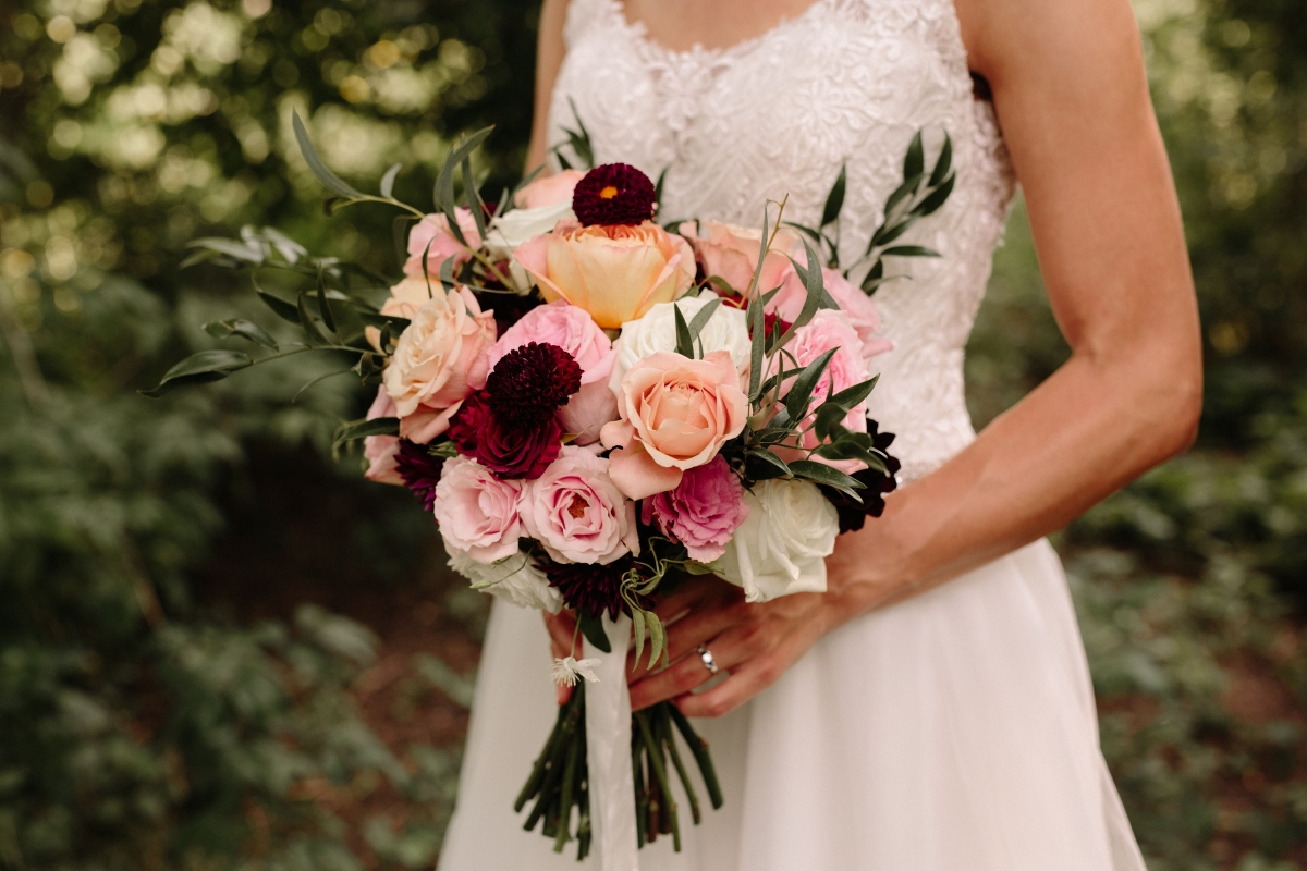 Colorful Bouquet by Heirloom Event Co