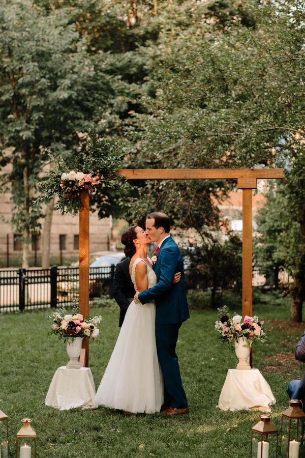 Chicago Wedding Ceremony in Washington Square Park