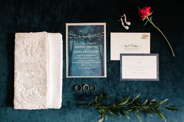 Navy and White Wedding Invitations