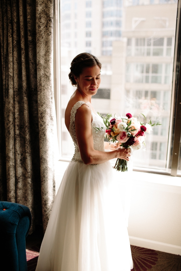 Chicago Bride in Dress from Glamour Closet
