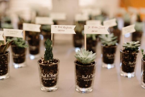 Succulent Wedding Escort Cards