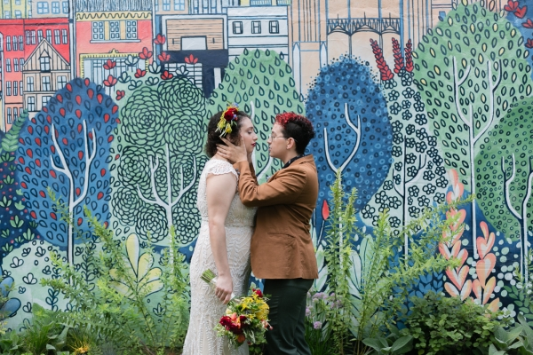 Colorful LGBT Styled Wedding Photo Shoot at The Lytle House