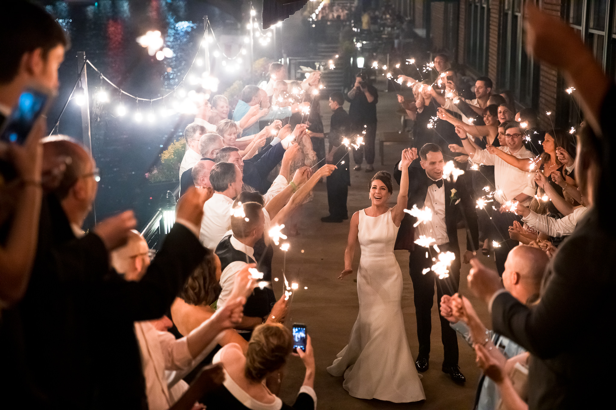 Newlywed with Sparkler Exits