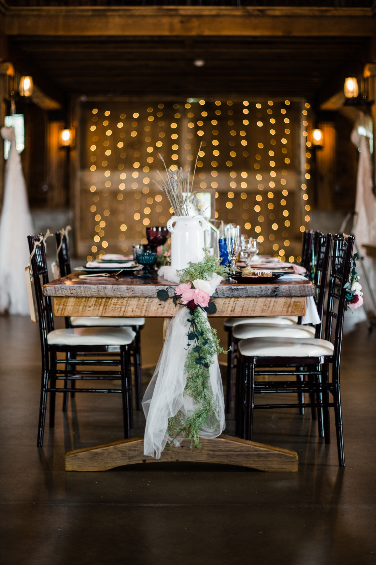 Wedding Table in Barn Chicagoland