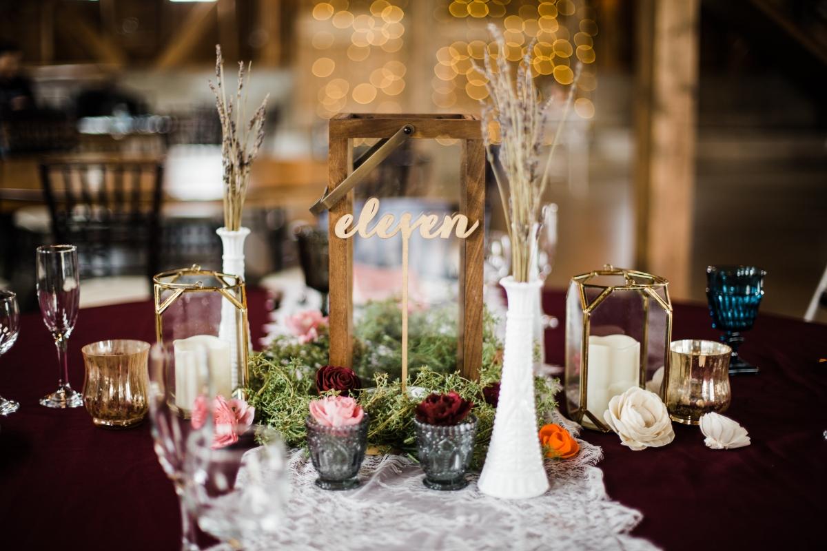Rustic Wood Wedding Table