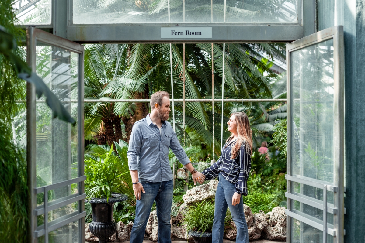 Lincoln Park Conservatory Engagement Session 1