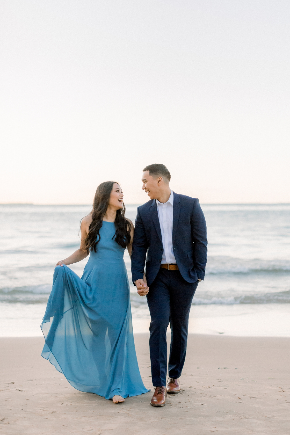 Chicago Ohio Street Beach Engagement Session