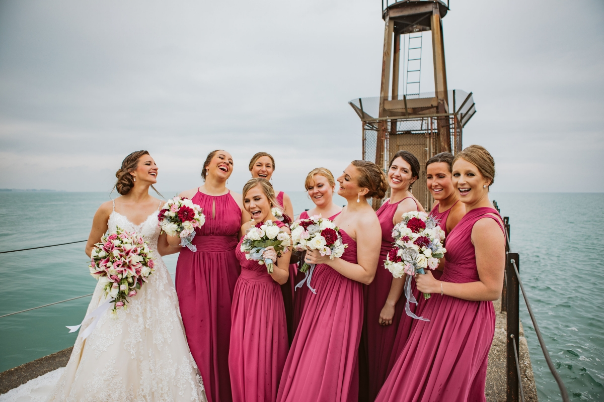 Pink Bridesmaids Dresses Chicago Lakeside