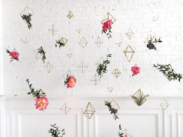 Geometric Wedding Decoration