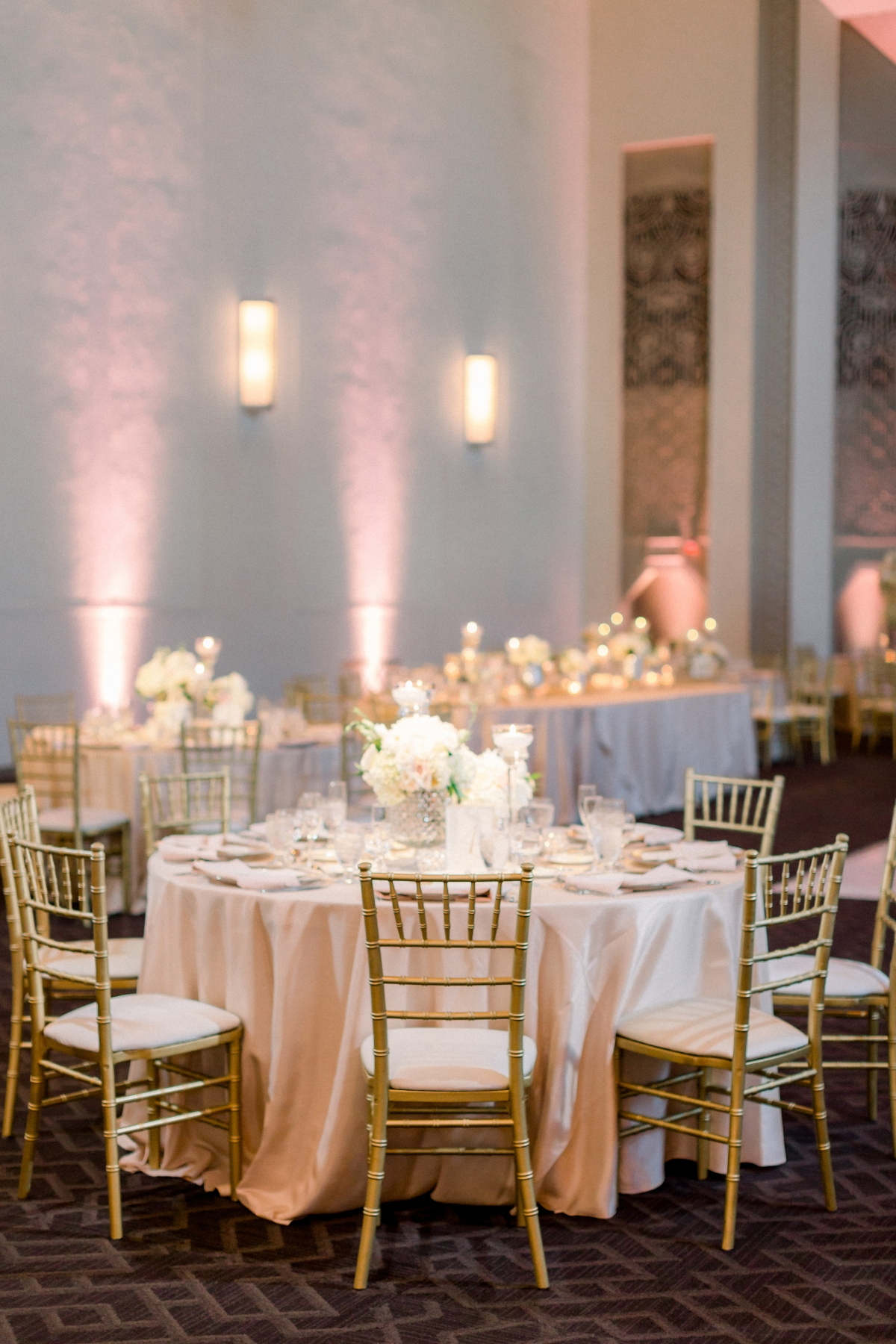 Blush and Gold Chicago Wedding Reception