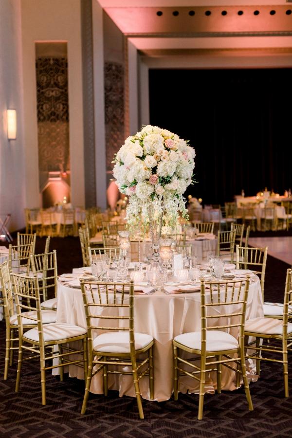 Blush and Gold Chicago Wedding Reception