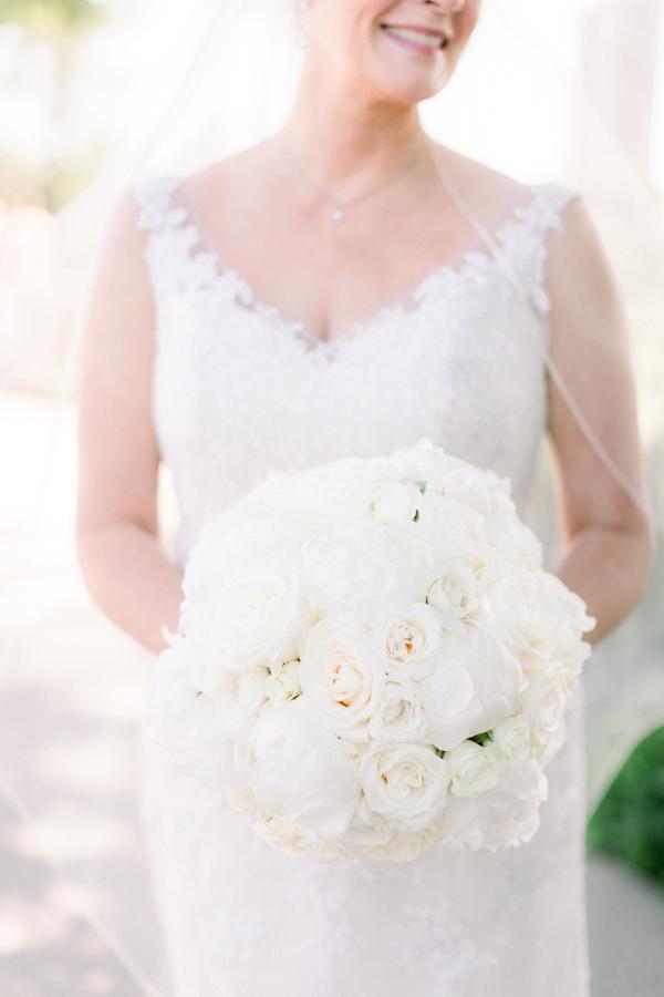 White Bridal Bouquet Yanni Design Studio