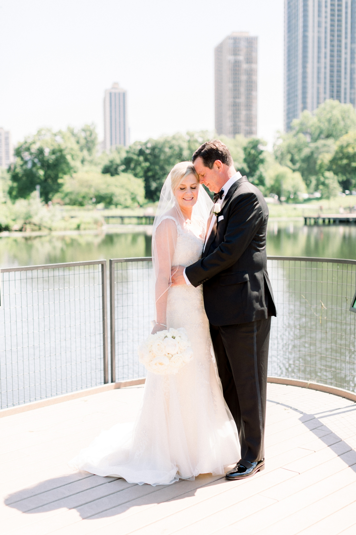 Elegant Black Tie Wedding Loyola University Chicago Tiffaney Childs