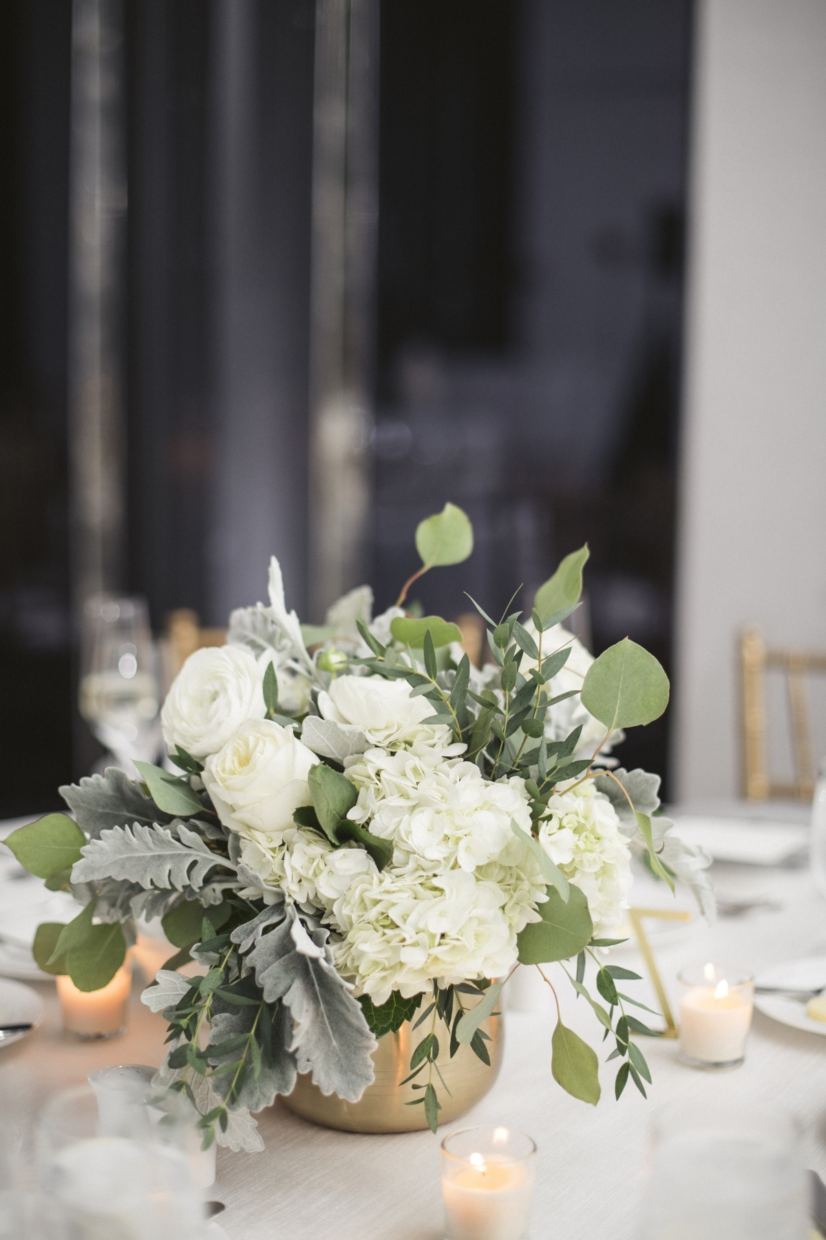 Ivory and Gold Wedding Reception St Jane Chicago