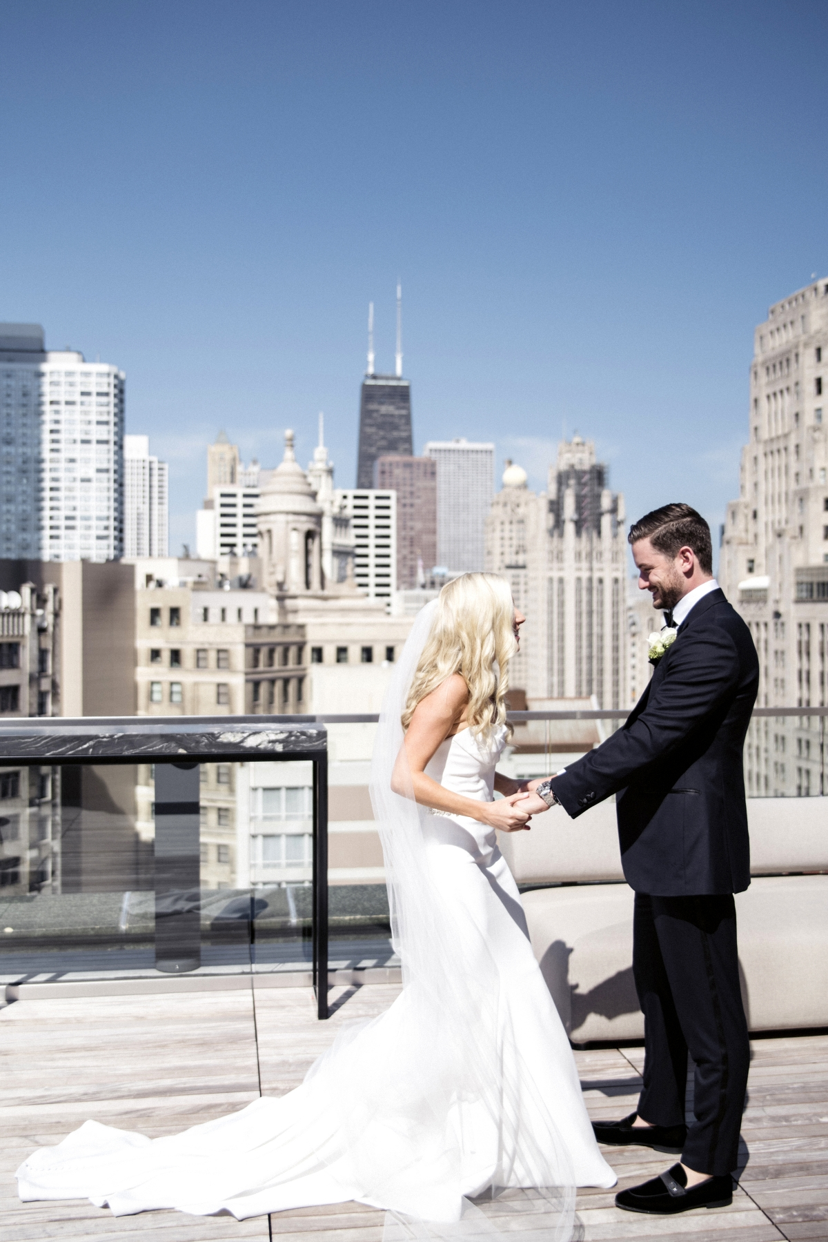 Chicago Wedding First Look