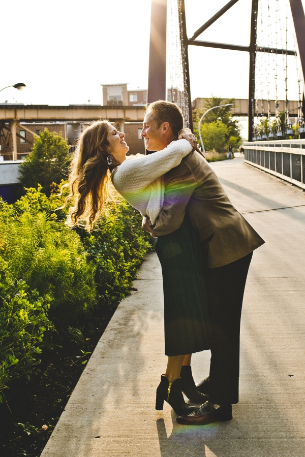 Engagement Photos on the 606 Chicago