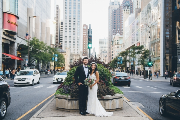 Michigan Avenue Wedding Photos