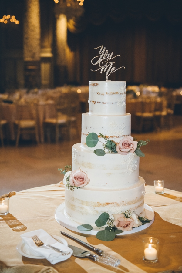 Sleek Tiered Wedding Cake