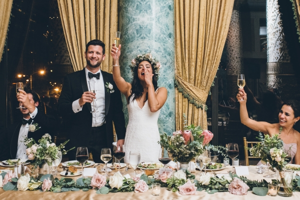 Fun Boho Chicago Wedding at The Drake Hotel