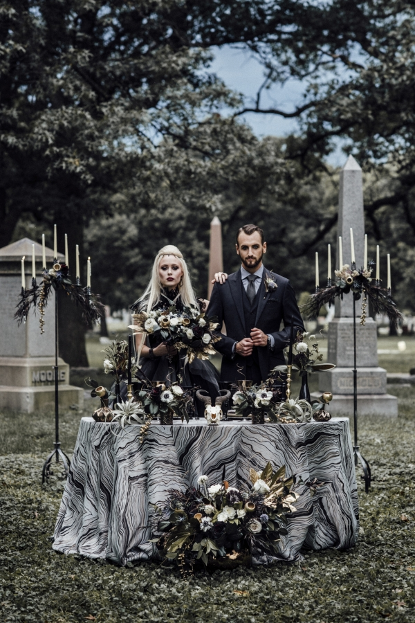 Gothic Halloween Wiccan Wedding Inspiration Chicago