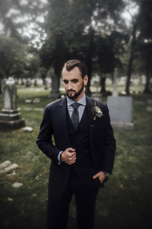 Halloween Wedding Groom Chicago
