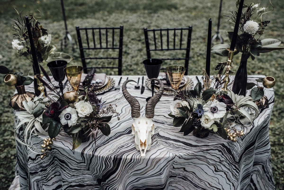 Halloween Wedding Table Centerpiece Chicago