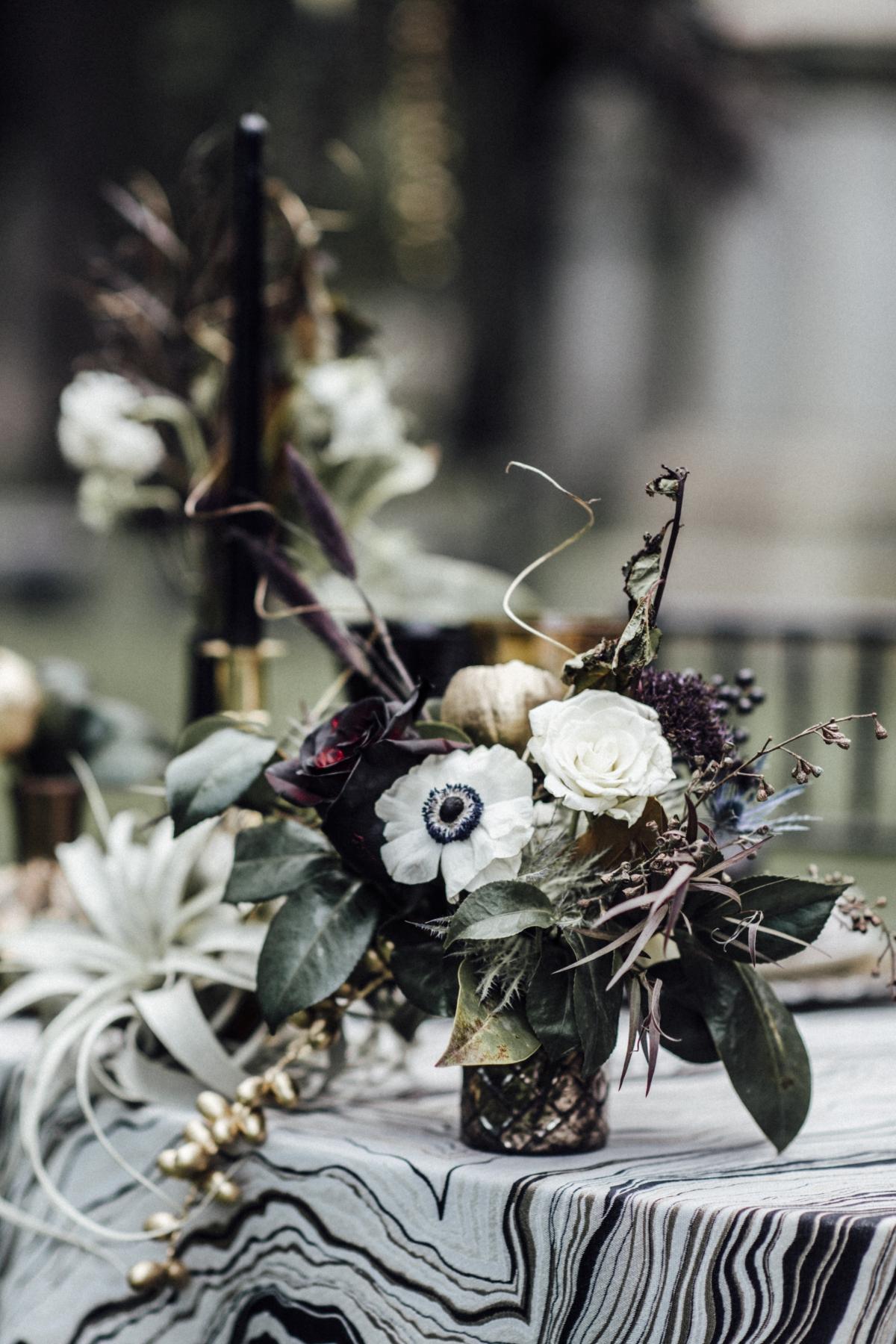 Halloween Wedding Table Centerpiece Chicago