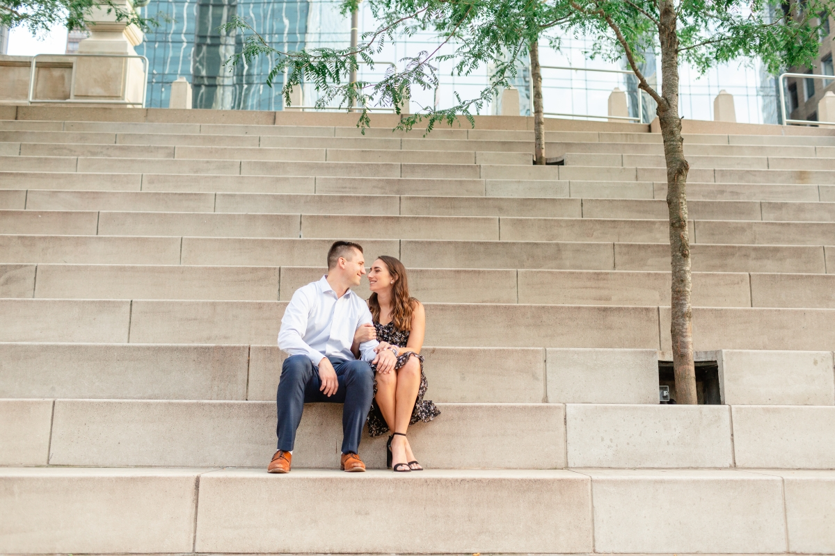 Chicago Engagement Session on the Riverwalk