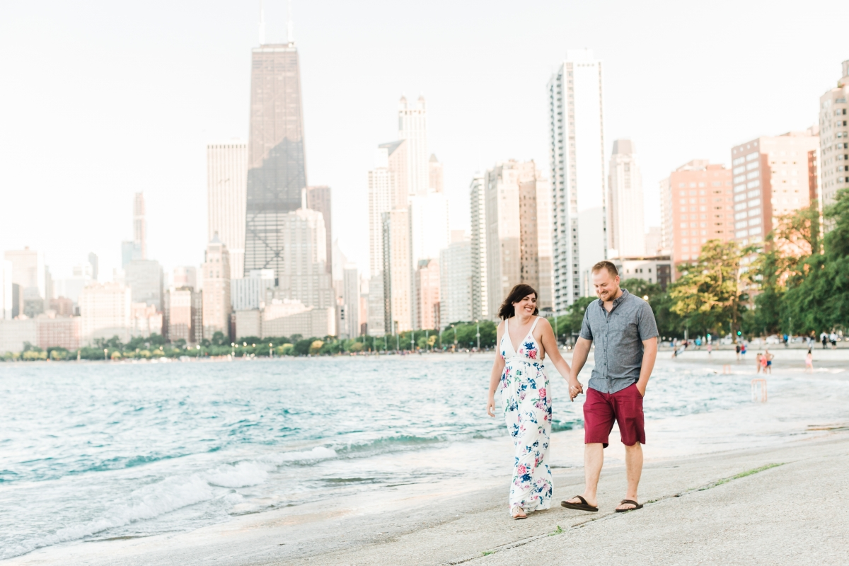 Lakefront Trail Chicago Engagement Session Janet D Photography 1